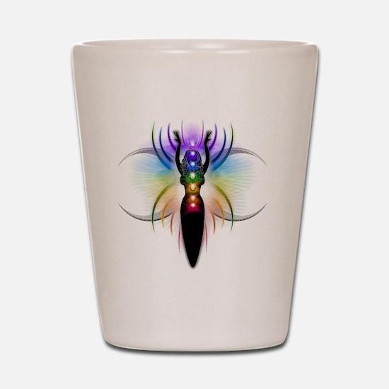 Chakra Goddess - transparent Shot Glass