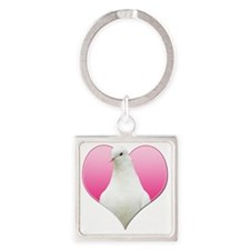 yuya-pinkheart Square Keychain