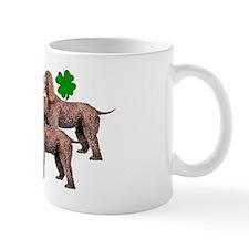 irish water spaniels with shamrocks2 Mug