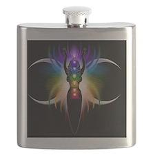 Chakra Goddess - greeting card Flask