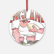 English Rugby - Forward 1 Round Ornament