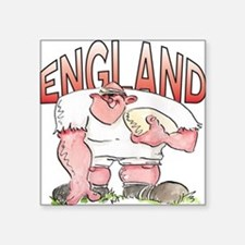 """English Rugby - Forward 1 Square Sticker 3"""" x 3"""""""