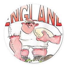 English Rugby - Forward 1 Round Car Magnet