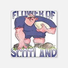 "Scottish Rugby - Forward 1 Square Sticker 3"" x 3"""