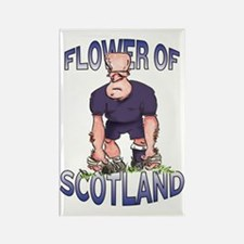 Scottish Rugby - Kicker Rectangle Magnet