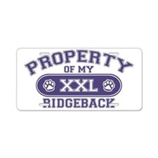 ridgebackproperty Aluminum License Plate