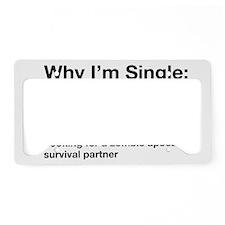 zombie single License Plate Holder