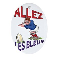 French Rugby - Kicker Oval Ornament