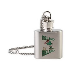 Irish Rugby - Kicker Flask Necklace
