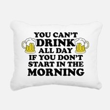 Drink All Day Rectangular Canvas Pillow
