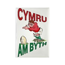 Welsh Rugby - Kicker Rectangle Magnet