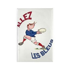 French Rugby - Back Rectangle Magnet