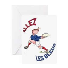 French Rugby - Back Greeting Card