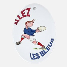 French Rugby - Back Oval Ornament