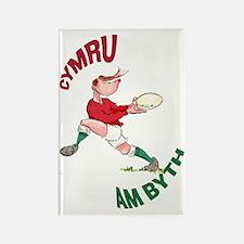 Welsh Rugby - Back Rectangle Magnet