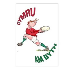 Welsh Rugby - Back Postcards (Package of 8)