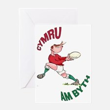 Welsh Rugby - Back Greeting Card