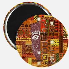 Warm Color pattern Logo Magnet