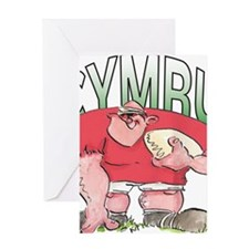 Welsh Rugby - Forward 1 Greeting Card