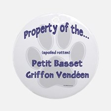 PBGV Property Ornament (Round)