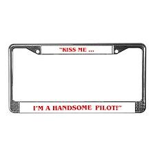 HANDSOME PILOT License Plate Frame