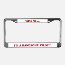 HANDSOME PILOT License Plate Frame