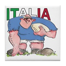 Italian Rugby - Forward 1 Tile Coaster