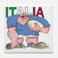 Italian Rugby - Forward 1 Tile Coaster