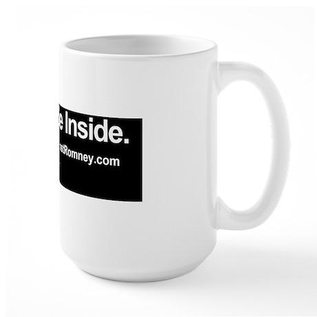 Dogs Against Romney bumber-irish-setter Large Mug