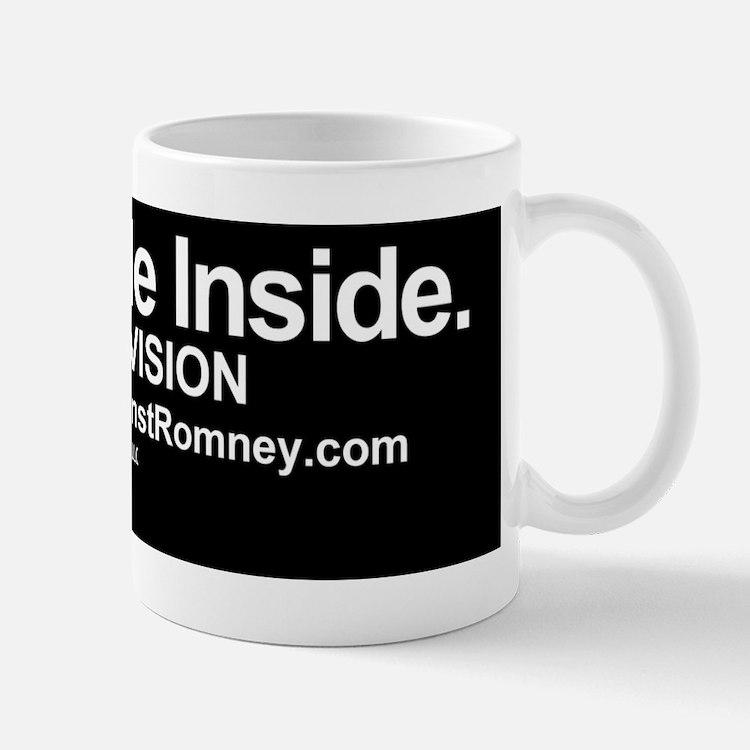 Dogs Against Romney bumber-CAT-I ride i Mug