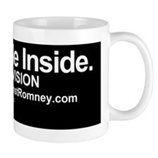 Dogs Against Romney bumber-CAT-I ride i Small Mug