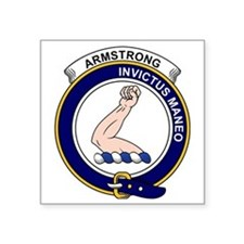 "Armstrong Clan Badge Square Sticker 3"" x 3"""
