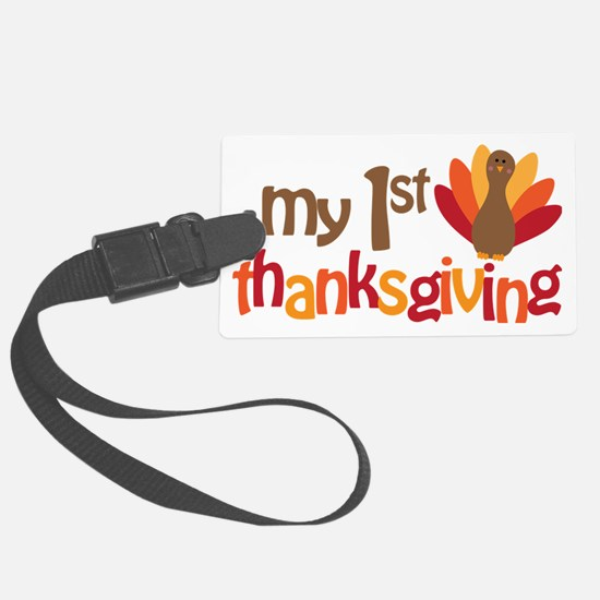 My 1st Thanksgiving Luggage Tag