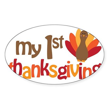 My 1st Thanksgiving Sticker (Oval)