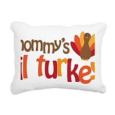 Mommys Lil Turkey Rectangular Canvas Pillow