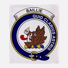 Baillie Clan Badge Throw Blanket