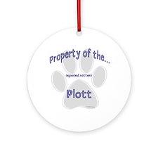 Plott Property Ornament (Round)