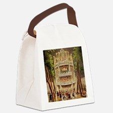 Vauxhall Gardens Tile Canvas Lunch Bag