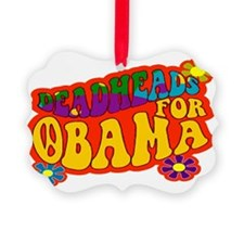 SIGN DEADHEADS FOR OBAMA Picture Ornament