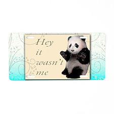 Panda Mug Wrap Aluminum License Plate