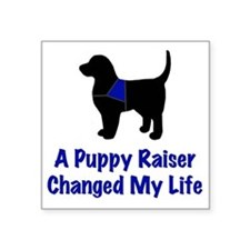 "Puppy Raiser Square Sticker 3"" x 3"""