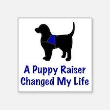 """Puppy Raiser Square Sticker 3"""" x 3"""""""