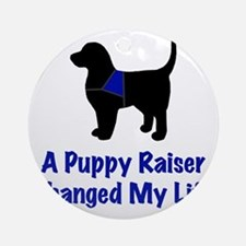 Puppy Raiser Round Ornament