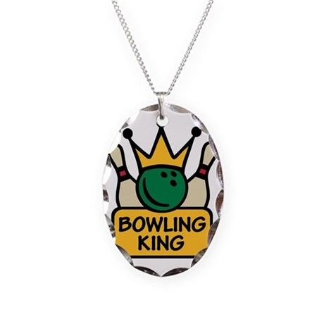 bowling_king_sc Necklace Oval Charm