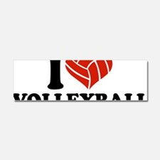 volleyball_i_heart Car Magnet 10 x 3