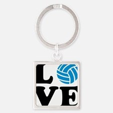 volleyball_love_ball Square Keychain