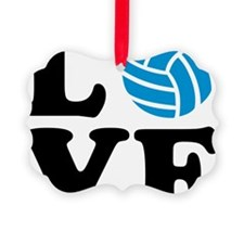 volleyball_love_ball Picture Ornament