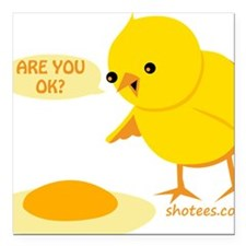 "are you ok Square Car Magnet 3"" x 3"""