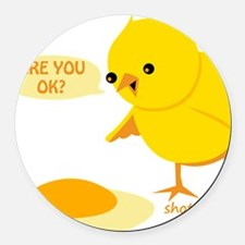 are you ok Round Car Magnet