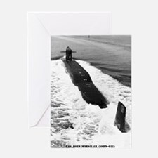 jmarshall ssbn framed panel print Greeting Card